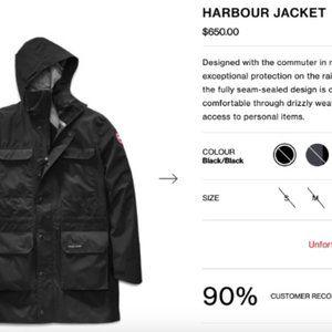 Canada Goose Mens (Harbour) Rain Jacket - Size L